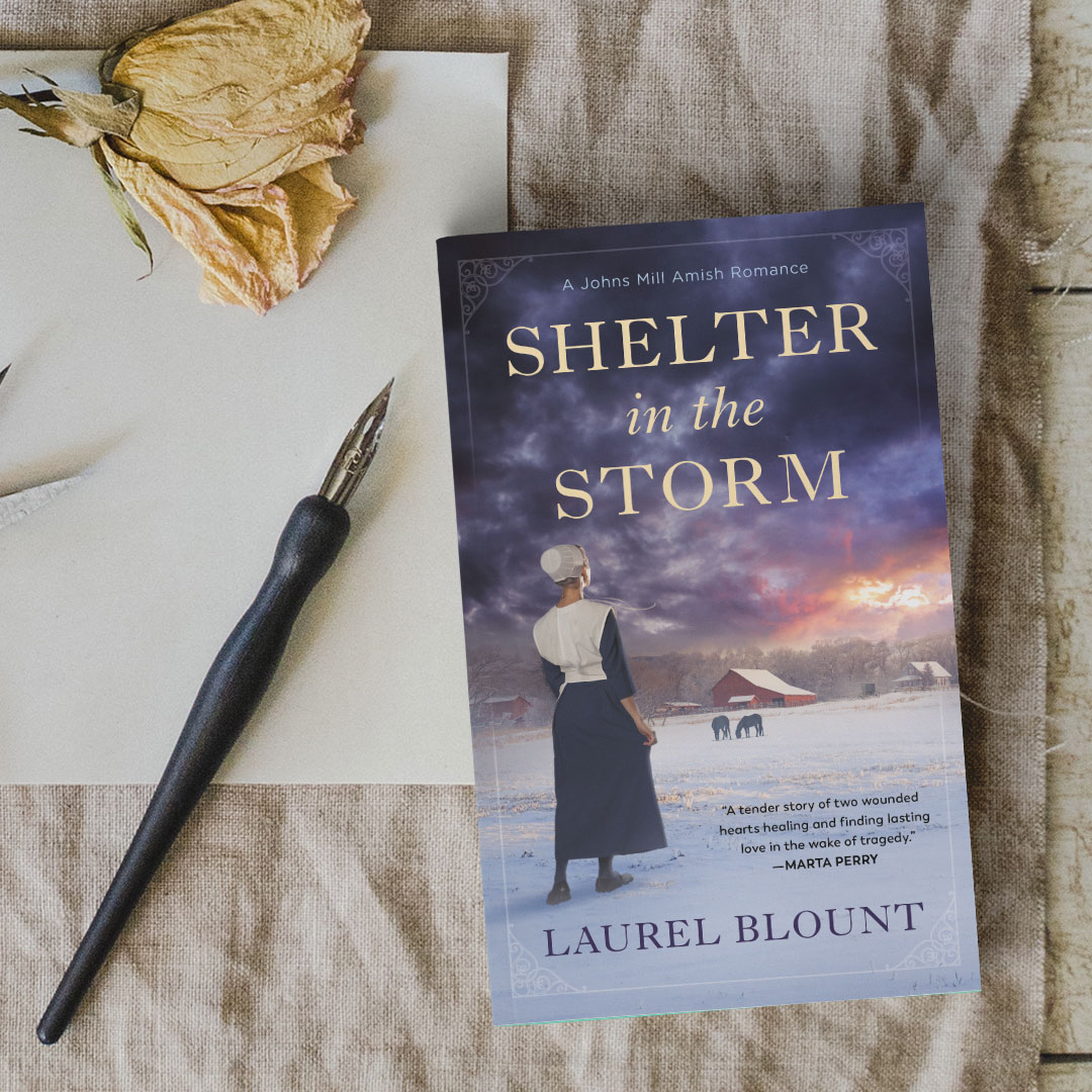 Shelter in the Storm promo graphic - Author Laurel Blount
